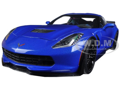 Corvette Stingray C7 Z06 Laguna Blue Tintcoat 1/18 Model Car - [Corvette Store Online]