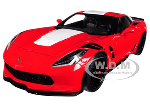 2017 Chevrolet Corvette C7 Grand Sport Red 1/18 Model - [Corvette Store Online]