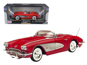 1958 Chevrolet Corvette Convertible Red 1/18 Diecast