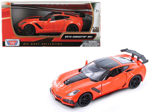2019 Chevrolet Corvette Orange ZR1 1/24 Diecast - [Corvette Store Online]