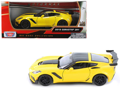 2019 Chevrolet Corvette Yellow ZR1 1/24 Diecast - [Corvette Store Online]