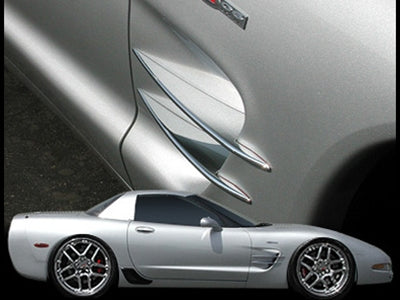 C5 & Z06 Corvette Billet Chrome Side Spears 1997-2004 - [Corvette Store Online]