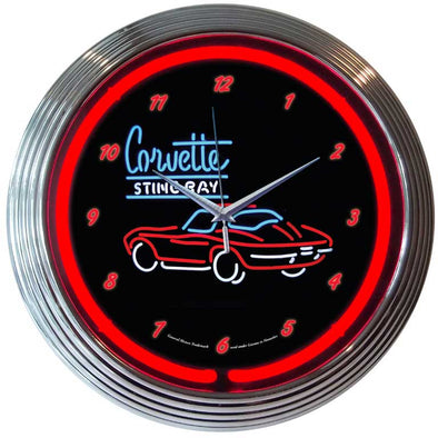 C2 Corvette Stingray Neon Clock - corvettestoreonline-com