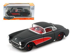 1957 Chevrolet Corvette Hard Top Primered Black W/ Red 1/24 Diecast - [Corvette Store Online]