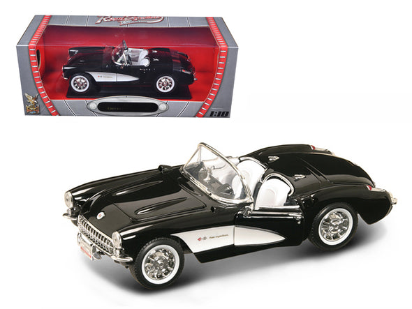 1957 Chevrolet Corvette Convertible Black 1/18 Diecast