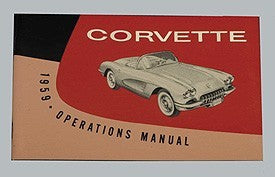 Corvette Owner's Manual 1959 - [Corvette Store Online]