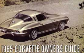 Corvette Owner's Manual 1965 - [Corvette Store Online]