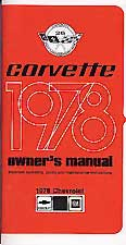 Corvette Owner's Manual 1978 - [Corvette Store Online]