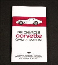Corvette Owner's Manual 1981 - [Corvette Store Online]