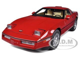 1986 Chevrolet Corvette Bright Red 1/18 Diecast - [Corvette Store Online]