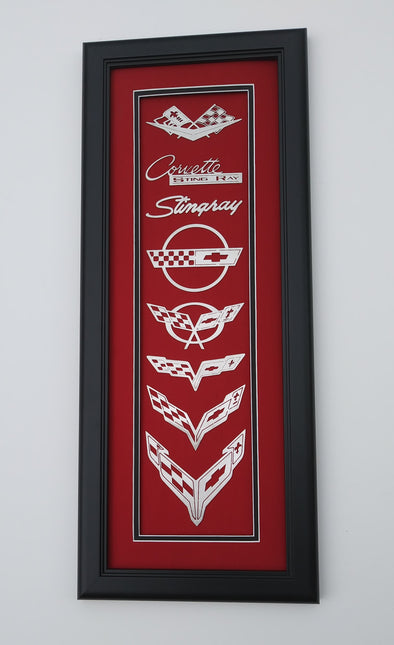 Corvette C1- Next Generation Emblems Shadowbox - [Corvette Store Online]