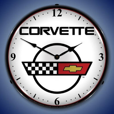C4 Corvette Logo Lighted Clock Profile - [Corvette Store Online]