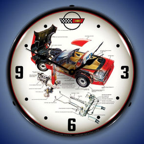 C4 Corvette Tech Lighted Clock Profile - [Corvette Store Online]