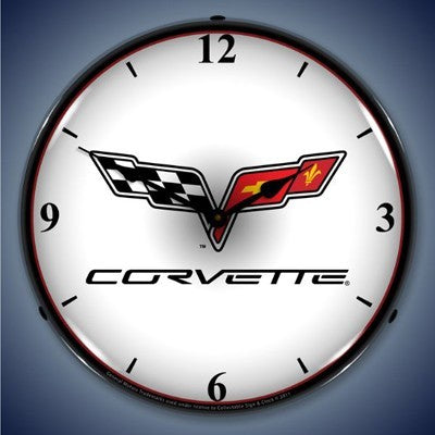 C6 Corvette Lighted Wall Clock - [Corvette Store Online]