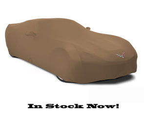 C7 Corvette Kalahari Tan Satin Stretch Indoor Car Cover