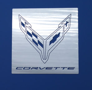 Next Generation Corvette Crossed Flag Signature Wall Hanging - [Corvette Store Online]