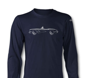 C1 Corvette 1958 Convertible Long Sleeve T-Shirt - [Corvette Store Online]