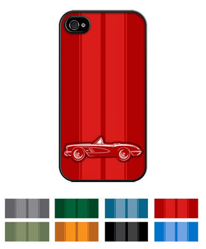 1958 C1 Corvette Convertible Smartphone Case - Racing Stripes - [Corvette Store Online]