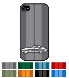 1963 C2 Corvette Stingray Split Window Smartphone Case - Racing Stripes - [Corvette Store Online]