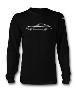 C2 Corvette 1963 Stingray Split Window Long Sleeves T-Shirt - [Corvette Store Online]