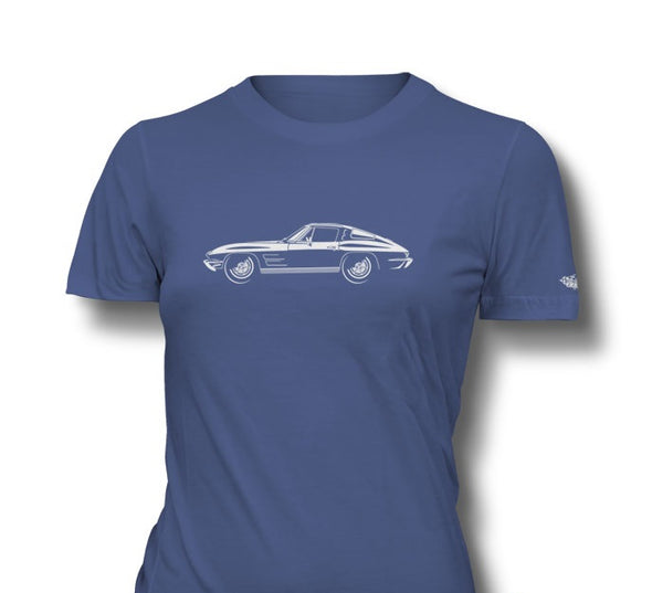 C2 Corvette 1963 Stingray Split Window Ladies T-Shirt - [Corvette Store Online]