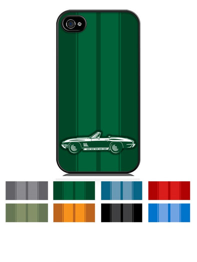 1967 C2 Corvette 427 Stingray Convertible Smartphone Case - Racing Stripes - [Corvette Store Online]