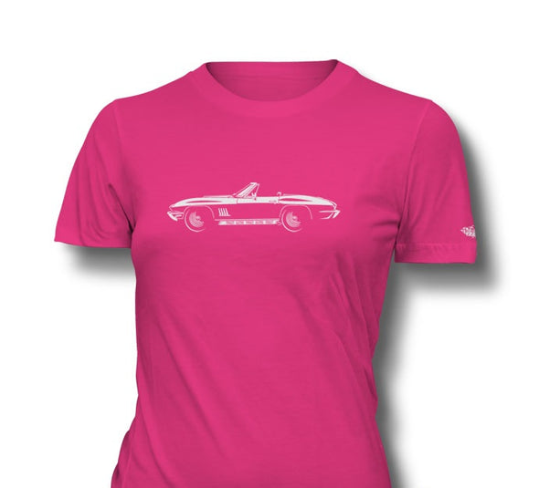 C2 Corvette 1967 427 Stingray Convertible Ladies T-Shirt - [Corvette Store Online]