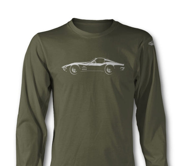C3 Corvette 1969 Stingray Coupe T-Top - Long Sleeve T-Shirt - [Corvette Store Online]