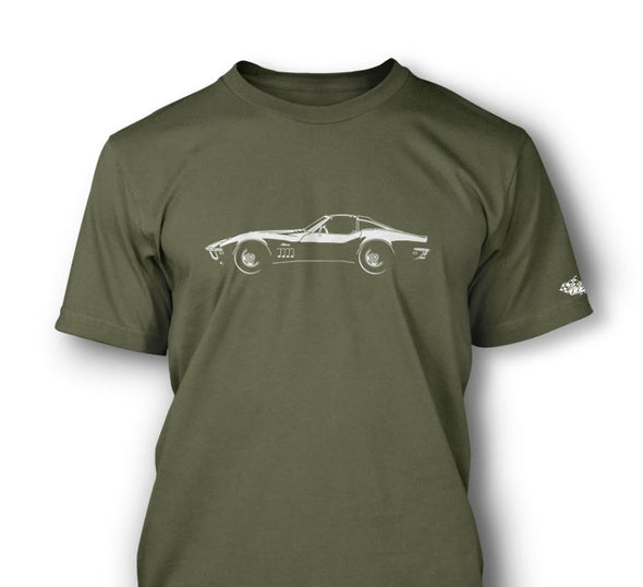 C3 Corvette 1969 Stingray Coupe T-Top T-Shirt - [Corvette Store Online]