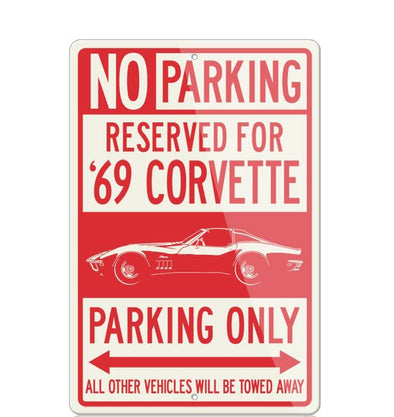 C3 Corvette 1969 Stingray Coupe T-Top Reserved Parking Only Sign - [Corvette Store Online]