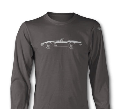 C3 Chevrolet Corvette 1969 Sting Ray Convertible - Long Sleeves T-Shirt - [Corvette Store Online]