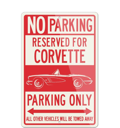 C1 Corvette Convertible Reserved Parking Only Sign - [Corvette Store Online]