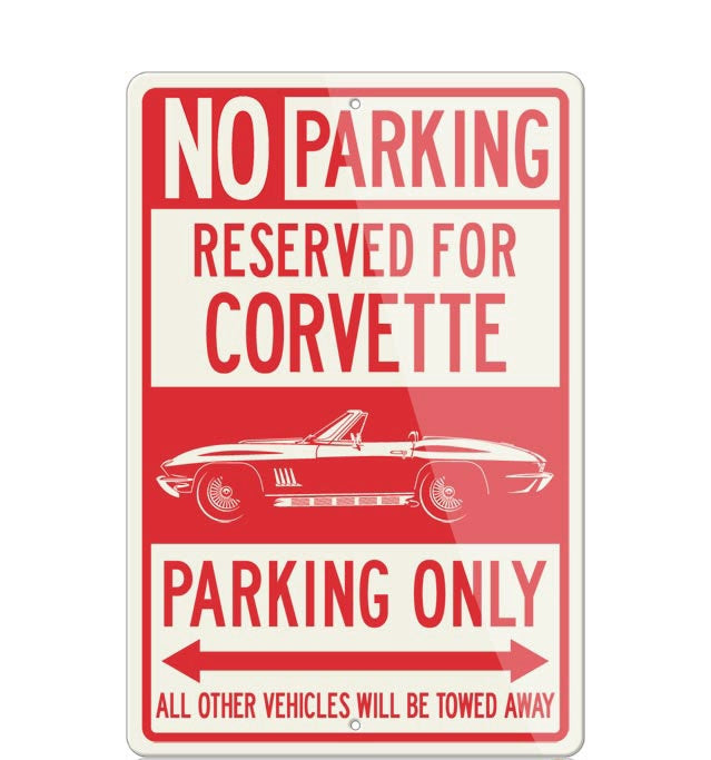 C2 Corvette Convertible Reserved Parking Only Sign - [Corvette Store Online]