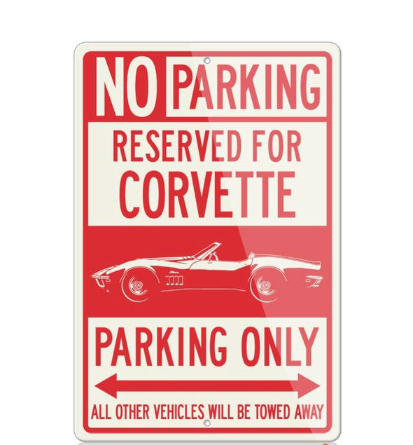 C3 Corvette Convertible Reserved Parking Only Sign - [Corvette Store Online]