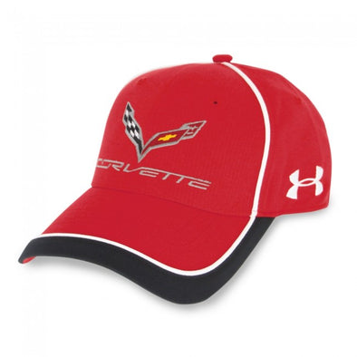 C7 Corvette Under Armour Stingray Fitted Cap - Red/White