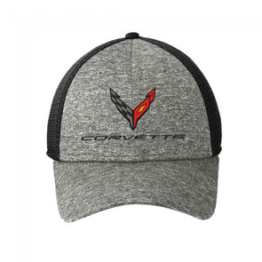 Corvette Next Generation New Era Performance Stretch-Mesh Cap-Heather - [Corvette Store Online]