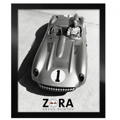 Corvette Next Generation Zora Black & White Framed Canvas Print - [Corvette Store Online]