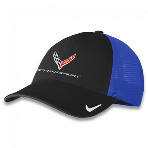 C8 Corvette Stingray Nike Fitted Cap - Black/Royal