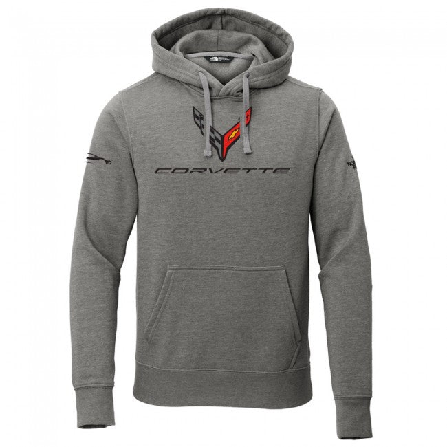 2020 Corvette C8 North Face® Hooded Pullover - Gray