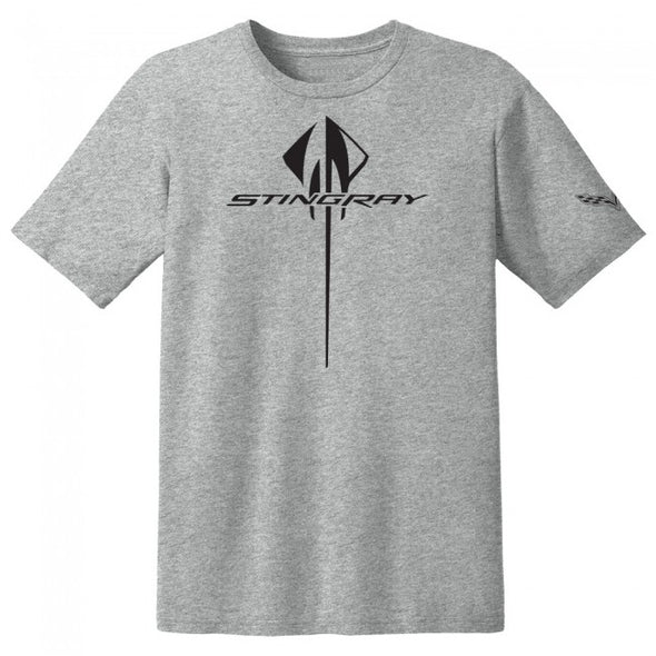 C7 Corvette Vertical Stingray Tee - Heather Gray