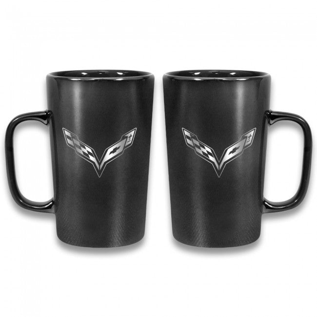 C7 Corvette Latte Mug - Black