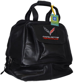 C7 Corvette Racing Leather Helmet Carrying Bag - [Corvette Store Online]