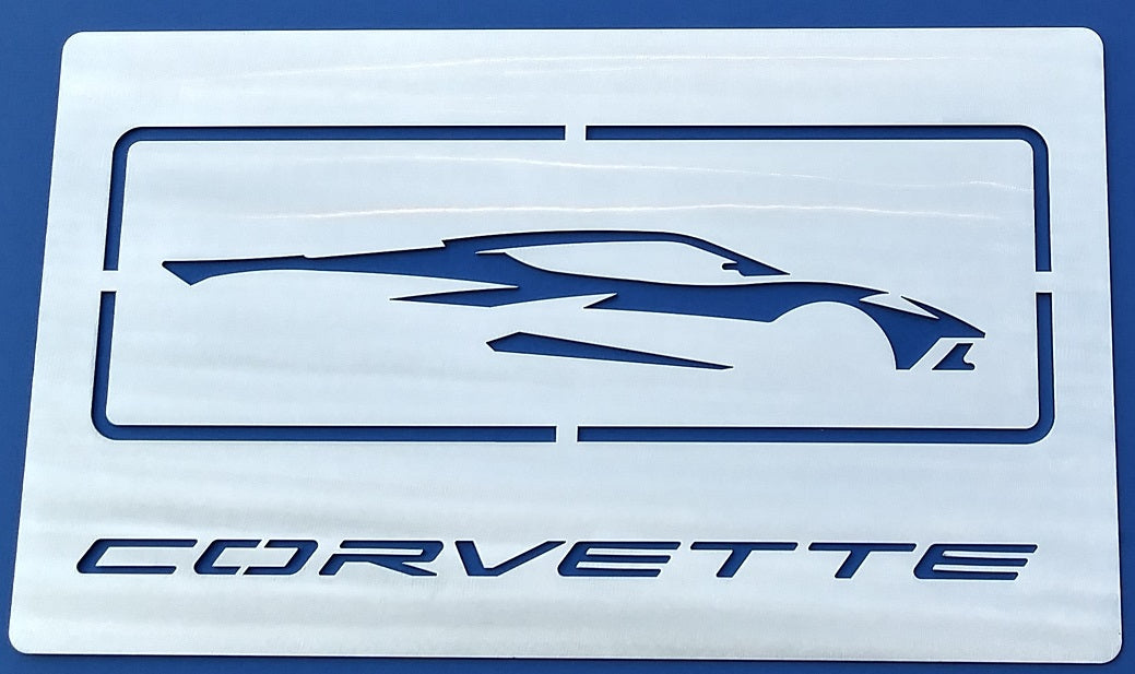 Next Generation Corvette Silhouette/ Signature Wall Hanging - [Corvette Store Online]