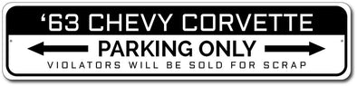 Chevy Corvette '63 Parking Sign - [Corvette Store Online]