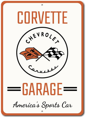 Corvette Garage America's Sports Car Sign - [Corvette Store Online]