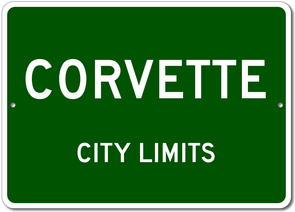 Corvette - City Limits - Aluminum Sign - [Corvette Store Online]