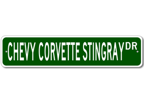Chevy Corvette Stingray Dr - Aluminum Street Sign - [Corvette Store Online]