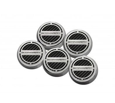 "C7 Corvette Stingray | Fluid Cap Cover | 5Pc Set | ""Stingray"" Lettering - [Corvette Store Online]"