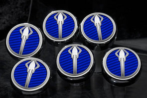 C7/Z06/Z51 Corvette (Manual) Stingray Fluid Cap Cover 6Pc Set | Stingray Emblem - [Corvette Store Online]