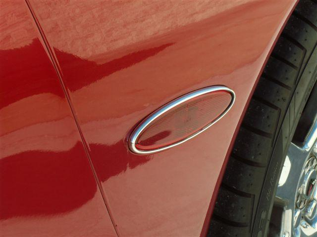 C5/Z06 Corvette Side Marker Trim |Rear |2pc | Chrome Molding - [Corvette Store Online]